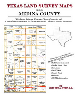 Texas Land Survey Maps for Medina County (Paperback)