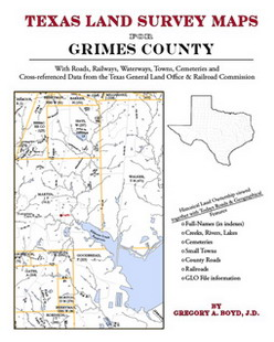Texas Land Survey Maps for Grimes County (Paperback)
