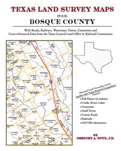 Texas Land Survey Maps for Bosque County (Paperback)
