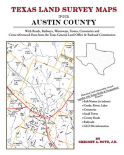 Texas Land Survey Maps for Austin County (Paperback)
