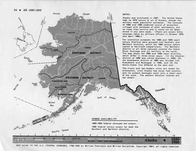 Map Guide to the U.S. Federal Censuses, Alaska 1880-1920 Map Packet