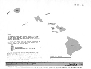 Map Guide to the U.S. Federal Censuses, Hawaii 1900 -1920 Map Packet