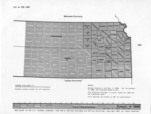 Map Guide to the U.S. Federal Censuses, Kansas 1860 -1920 Map Packet