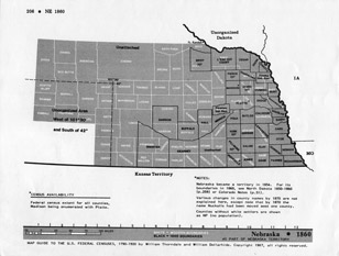 Map Guide to the U.S. Federal Censuses, Nebraska 1860 -1920 Map Packet