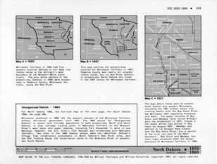 Map Guide to the U.S. Federal Censuses, North Dakota 1860 -1920 Map Packet