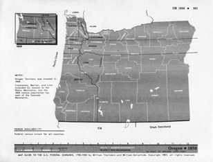 Map Guide to the U.S. Federal Censuses, Oregon 1850 -1920 Map Packet