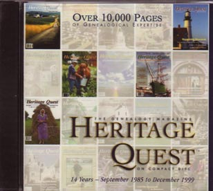 Heritage Quest Magazine 1985-1999, on CD-ROM