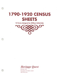 1790-1920 Census Sheets, 13 Forms designed by William Dollarhide