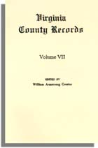 Virginia County Records, Vol. VII--Miscellaneous County Records