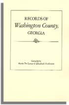 Records of Washington County, Georgia
