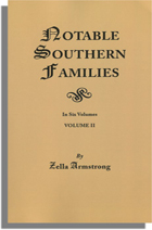 Notable Southern Families, Volume II