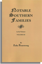 Notable Southern Families, Volume III