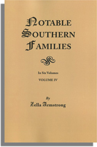 Notable Southern Families, Volume IV