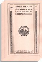 North Carolina Historical and Genealogical Register, Vol. I, no. 1-Vol. III, no. 3 (11 numbers)