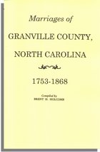 Marriages of Granville County, North Carolina, 1753-1868