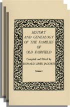 History and Genealogy of the Families of Old Fairfield, With Additions and Corrections from The American Genealogist. 2 vols. in 3