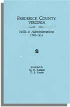 Frederick County, Virginia, Wills & Administrations, 1795-1816