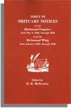Index to Obituary Notices