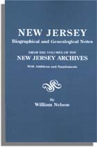 New Jersey Biographical and Genealogical Notes