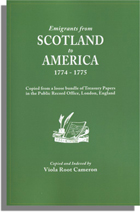 Emigrants from Scotland to America, 1774-1775