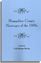 Hampshire County Marriages of the 1800s