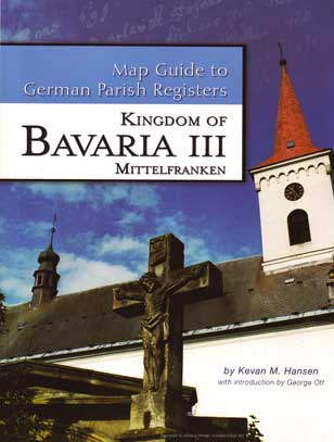 Damaged- Map Guide to German Parish Registers Vol 16 - Bavaria III - RB Mittelfranken