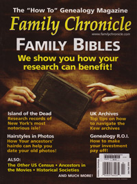 Family Chronicle – January/February 2010