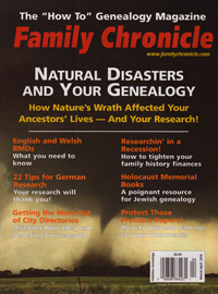 Family Chronicle – March/April 2010