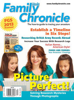 Family Chronicle – March/April 2013