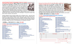Product Description Flyer: German Residential Records For Genealogists: Tracking Your Ancestors From Place to Place & German Census Records 1816-1916