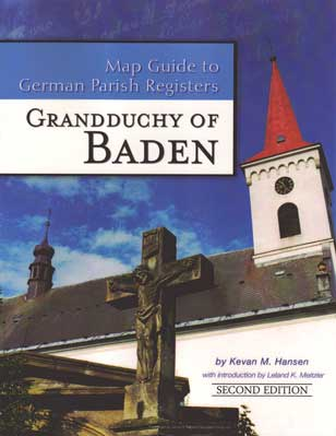 Map Guide to German Parish Registers Vol. 2 - Baden