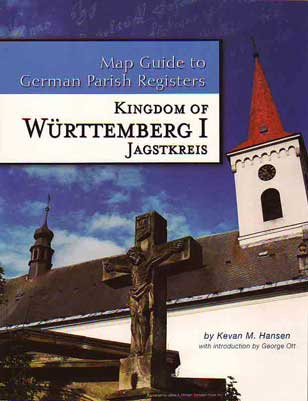 PDF eBook- Map Guide to German Parish Registers Vol. 5 - Württemberg I - Jagstkreis