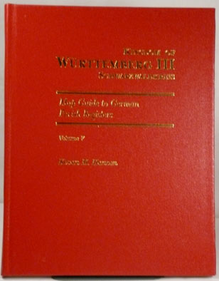 Map Guide to German Parish Registers Vol. 7 - Württemberg III – Schwarzwaldkreis - Hard Cover