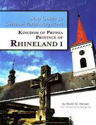 Map Guide to German Parish Registers Vol 11 - Rhineland I - RB Aachen & Düsseldorf