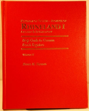Map Guide to German Parish Registers Vol. 11 - Rhineland I - RB Aachen & Düsseldorf - Hard Cover