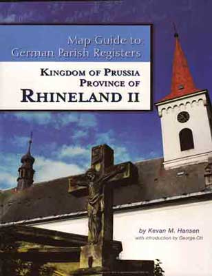 Map Guide to German Parish Registers Vol. 12 - Rhineland II - RB Köln & Koblenz