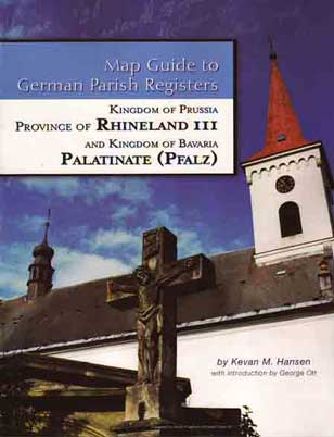 Map Guide to German Parish Registers Vol 13 - Rhineland III - RB Trier & the Pfalz (Palatinate)