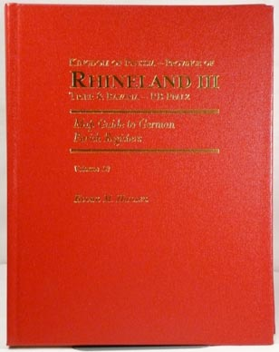 Map Guide to German Parish Registers Vol 13 - Rhineland III - RB Trier & the Pfalz (Palatinate) - Hard Cover