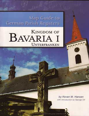Map Guide to German Parish Registers Vol 14 - Bavaria I - RB Unterfranken