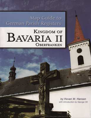 Map Guide to German Parish Registers Vol 15 - Bavaria II - RB Oberfranken