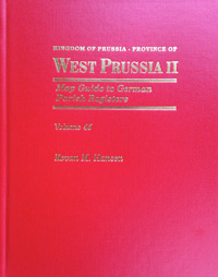 Map Guide to German Parish Registers Vol. 45 - Kingdom of Prussia - West Prussia II - RB Marienwerder - Hard Cover
