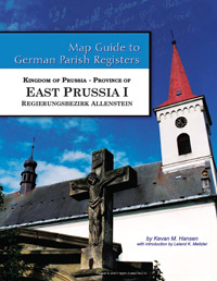 Map Guide to German Parish Registers Vol. 46 – Kingdom of Prussia, Province of East Prussia I, Regierungsbezirk Allenstein