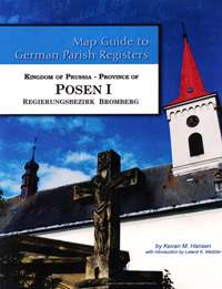 Map Guide to German Parish Registers – Vol. 51 - Kingdom of Prussia, Province of Posen I, Regierungsbezirk Bromberg