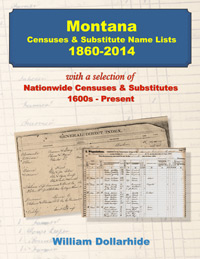 PDF eBook: Montana Censuses & Substitute Name Lists 1860-2014