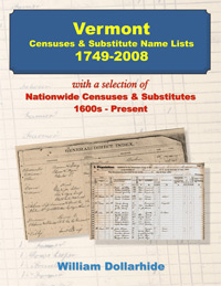 PDF eBook: Vermont Censuses & Substitute Name Lists, 1749-2008