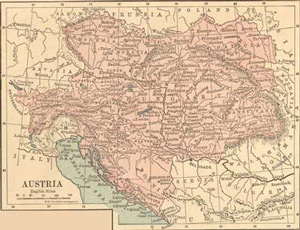 1882 Map of Austria