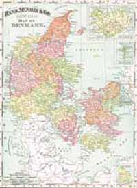 1895 Map of Denmark