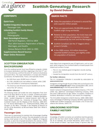 Genealogy at a Glance: Scottish Genealogy Research