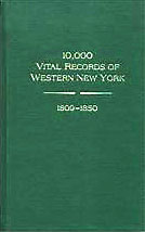 10,000 Vital Records of Western New York: 1809-1850