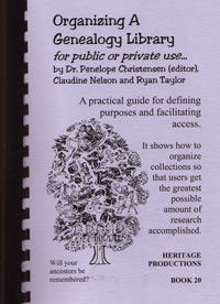 Organizing a Genealogy Library for Public or Private Use
